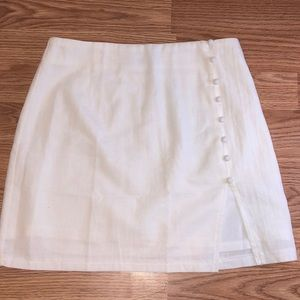 A white mini skirt